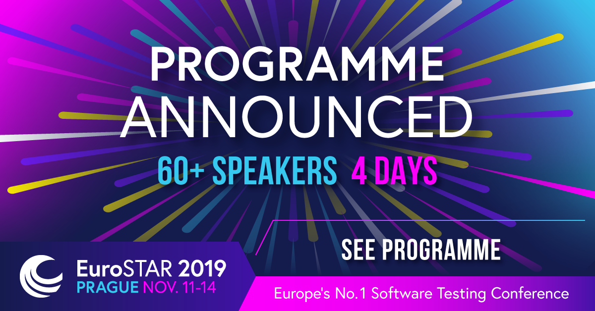 The 2019 EuroSTAR Software Testing Conference Programme has